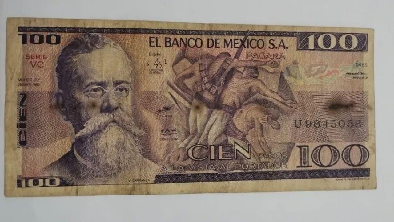 Estos billetes antiguos de Hidalgo, Carranza y Cuauhtémoc cuestan en total 72 mil pesos en línea