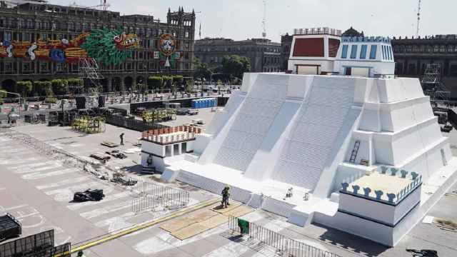 La maqueta del Templo Mayor estará expuesta en el Zócalo del 13 de agosto al 1 de septiembre