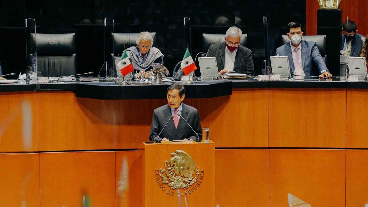 Ramírez de la O comparece ante el Senado: Analiza tercer informe de gobierno