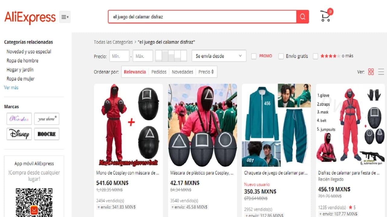 Aquí puedes comprar tu disfraz del Juego del Calamar