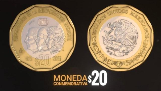 así son las nuevas monedas de 20 pesos