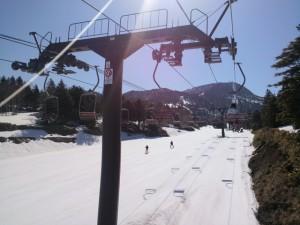 初めてのスキー挑戦シアトル生まれのエリカ嬢