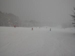 午後のゴンドラ下白樺コース