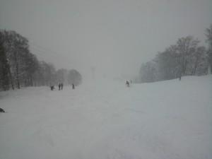 降雪深雪のチャンピョンコース