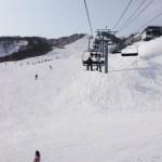 午後の山頂ゲレンデ