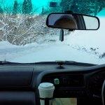 昨日の降雪で厳冬期の路面状況
