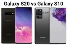 Samsung Galaxy S10 vs Samsung Galaxy S20