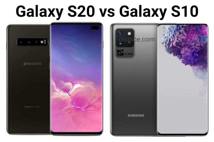 Samsung Galaxy S10 vs Samsung Galaxy S20