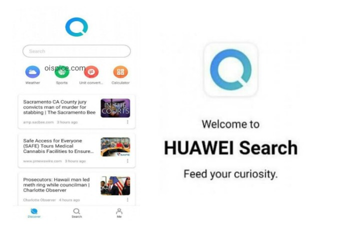 How to use Huawei Search and Huawei App Store
