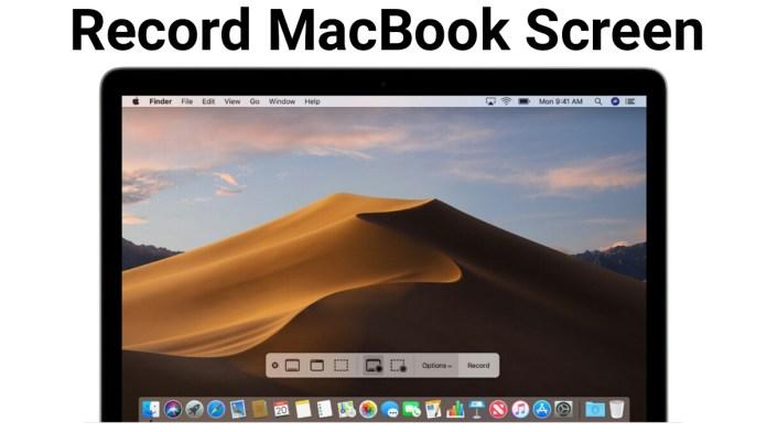 record your Macbook screen