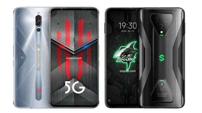 Compare between ZTE Nubia Red Magic 5S vs Xiaomi Black Shark 3S