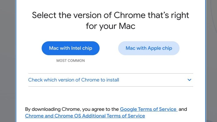 native version of Chrome for Apple Arm Macs