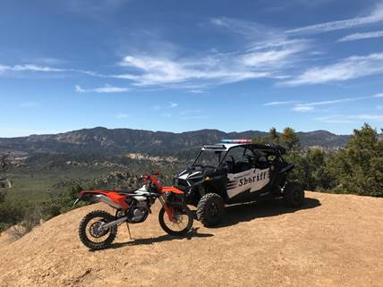 ATVs and 4x4 are necessary to effectively patrol Ventura County's backcountry.