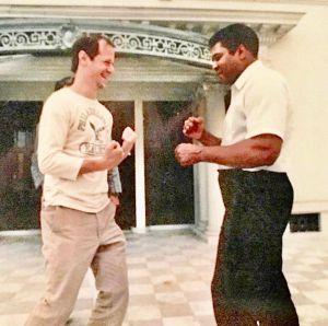 Franz Lidz and Muhammed Ali