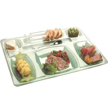 plateau repas plastique gala