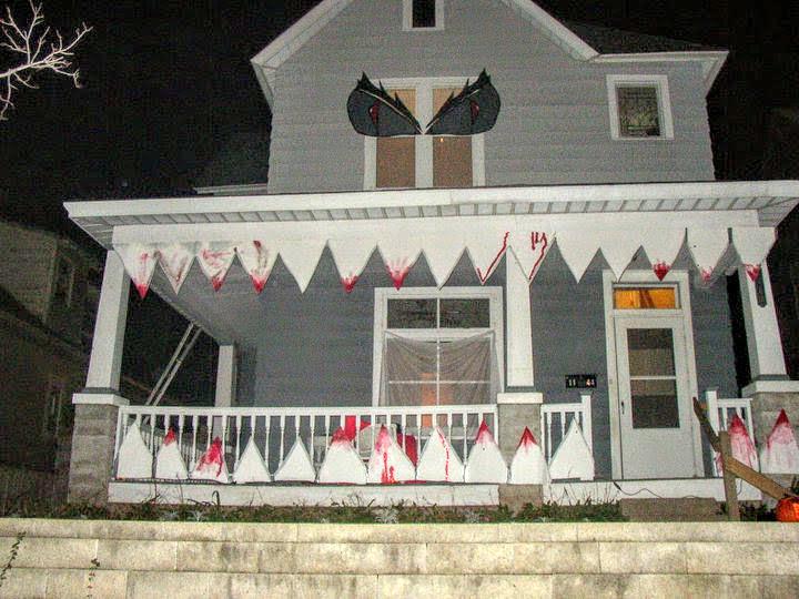 My neighbor aimed to scare on Halloween