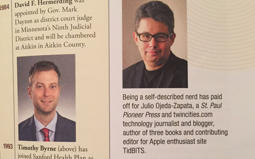 My alma mater profiles me briefly, brilliantly