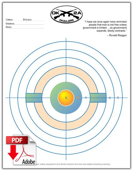 free printable shooting target # 30
