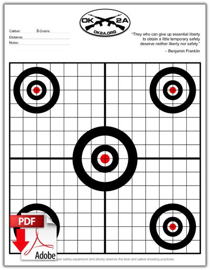 free printable shooting target # 7