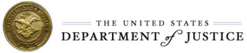 U.S. Dept. of Justice logo