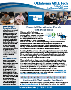 2018 Spring ABLE Tech Newsletter (PDF)