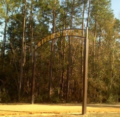 The entrance to River's Edge RV Park in Holt, Florida.