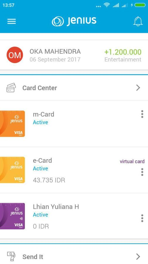 virtual card Jenius BTPN