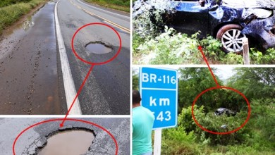 Foto de Penaforte-CE: Ao desviar de buraco, carro capota, cai em ribanceira