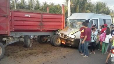 A Polícia Rodoviária Estadual vai investigar as causas do acidente. — Foto: Reprodução/TV Verdes Mares