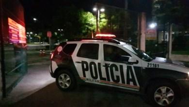 Polícia saindo da Uece. (Foto: FCO Fontenele)