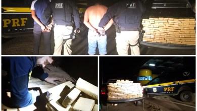 Os tripulantes do veiculo disseram desconhecer que transportavam a droga |Foto: PRF/CE/Divulgação