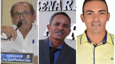 Na esquecia da imagem: Lorim; Beto Mitrado e Isael Saltos | Fotos: Reprodução Facebook