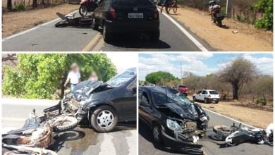 Photo of Milagres-CE: Motoqueiro morre após colidir frontalmente com veículo.