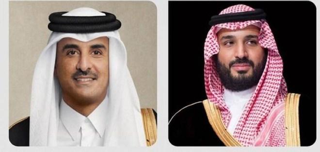 ولي العهد يتلقى تهنئة أمير قطر بمناسبة حلول شهر رمضان – أخبار السعودية