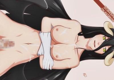 【オーバーロード】アルベドと正常位セックスでぶっかけするエロフラッシュゲーム!
