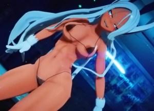 【ヒロアカ】ミルコがストリップで鍛え抜かれた褐色筋肉ボディを惜しげもなく晒す!(3Dアニメ)