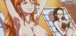 【ワンピース】ナミやロビンの衣服を剥ぎ取る裸コラ画像集!アニメのあのシーンをエッチに改造!(剥ぎコラ・裸コラ)
