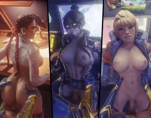【3DCGエロ動画】Apex_Legendsのキャラクターえっち過ぎない?僕はワットソンが好きです。