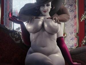 【バイオハザード8 ヴィレッジ】ドミトレスク夫人にエロマッサージ!あの爆乳を揉みしだいてリンパを刺激してしまうwwwww(3Dエロ動画)