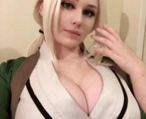 【ヌード画像あり】NARUTOのコスプレする外国人まんさん、顔も可愛いしおっぱいも大きい