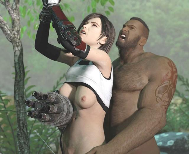 【FF7R】戦闘中にも関わらず無防備パンチラするティファさん、無事バレットにレ〇プされてしまうwwwww(3DCG集)