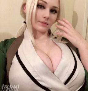 【ヌード画像あり】NARUTOのコスプレする外国人まんさん、顔も可愛いしおっぱいも大きい←日本人じゃ勝てねぇよ・・・・。