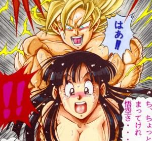 【エロ漫画】スーパーサイヤ人悟空「チチぃ!すっぞ!」チチ「悟空さ!おらぁ、こわれちまうだよぉーー!!」←これwwwww