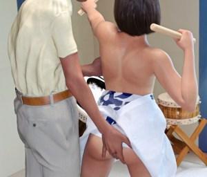 【画像】村長のエロ爺さん、権力者の立場を利用して女の子にセクハラしてしまう・・・。