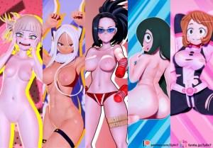『僕のヒーローアカデミア』の女キャラたちをフル3Dモデル化!もちろんおっぱいやオマ○コまで完全再現!?