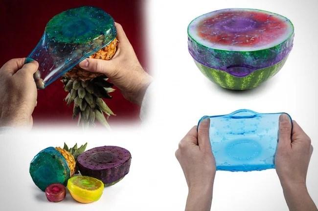 plástico que cubre las frutas para que no se desperdicien