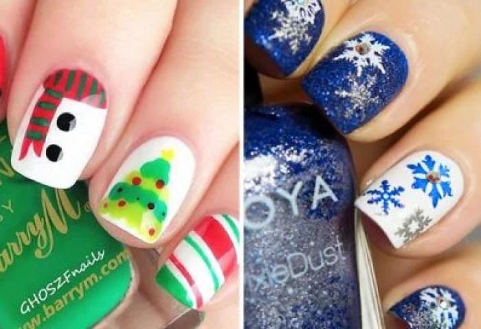 20 Ideas Creativas Para Decorar Tus Uñas Durante Navidad