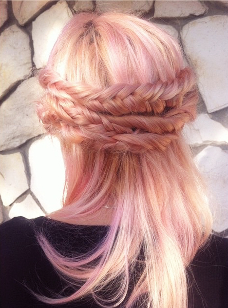 Two Toned Hair White On Top Black Underneath Hair Hair