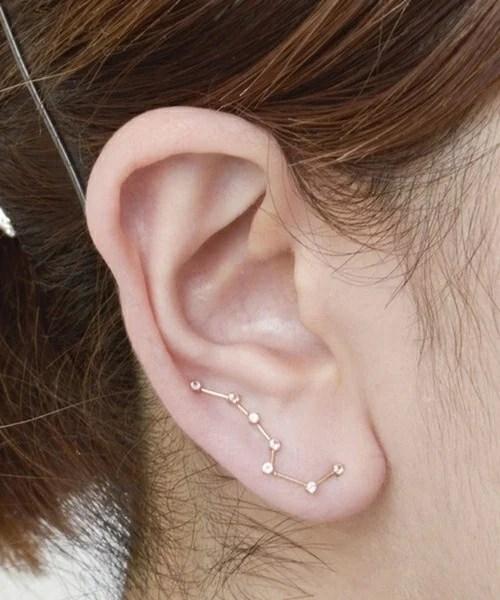 Piercing para mujer en los oidos