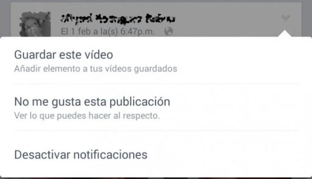 facebook guardar video